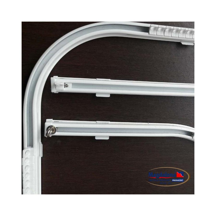 Szyna sufitowa aluminiowa gięta 90 stopni