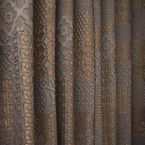 Zasłony dekoracyjne gładkie i wzorzyste